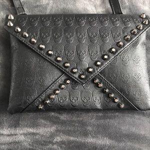 Handbags - Black studded skull purse.